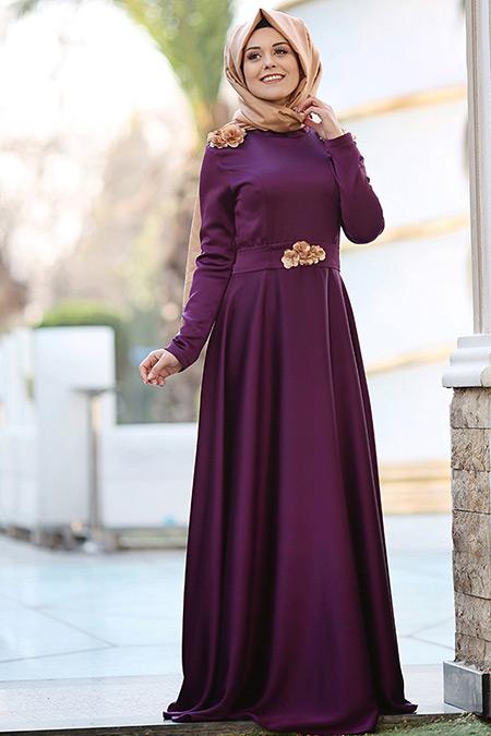 Puqqa Mor Madam Abiye Elbise