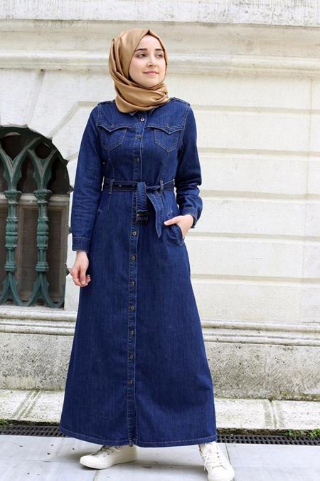 Rabiaca Kot Düğmeli Elbise