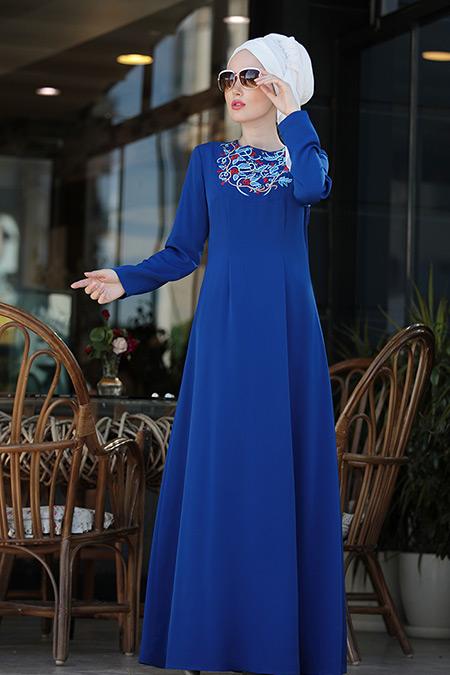 Selma Sarı Design Saks İrem Nakışlı Elbise