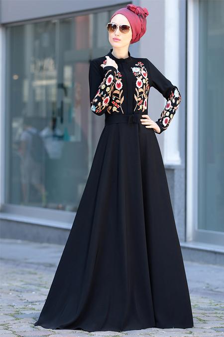 Selma Sarı Design Siyah Mila Elbise
