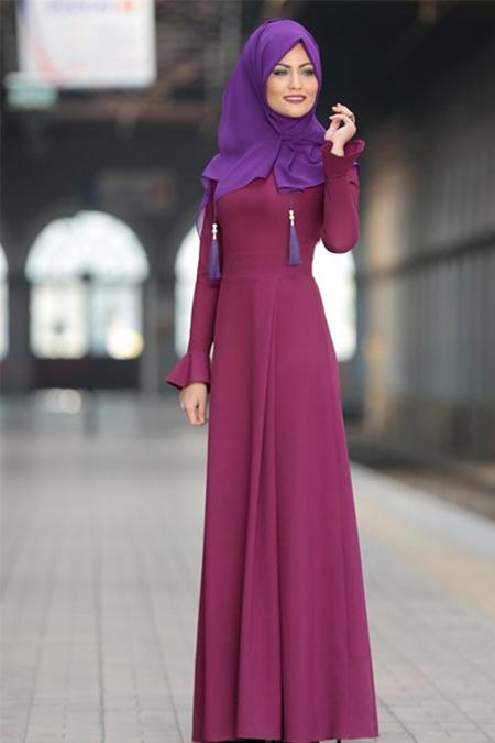 Al-Marah Fuşya Lara Elbise