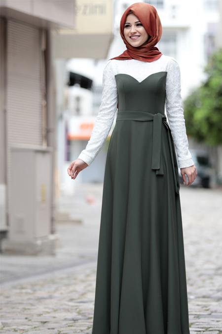 Al-Marah Haki Yağmur Elbise