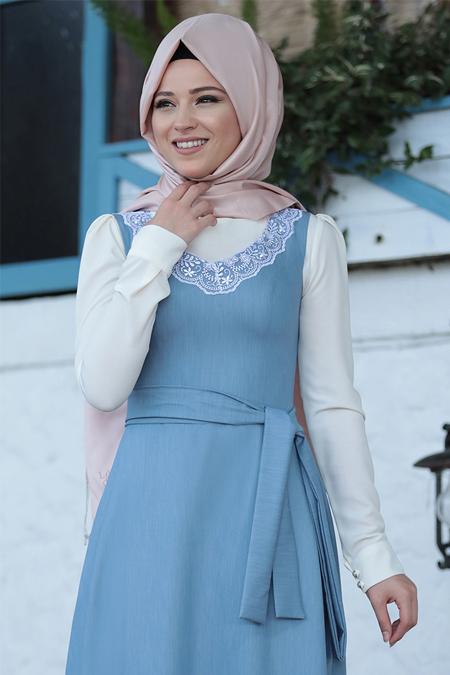 Al-Marah Mavi Güler Elbise