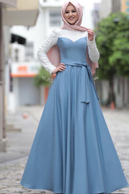 Al-Marah Mavi Yağmur Elbise