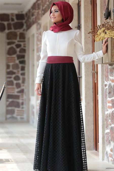 Al-Marah Siyah Mira Abiye Elbise