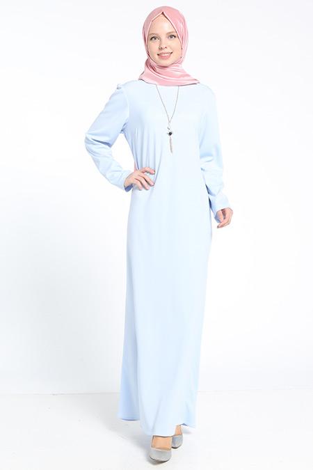 Bislife Mavi Kolyeli Elbise