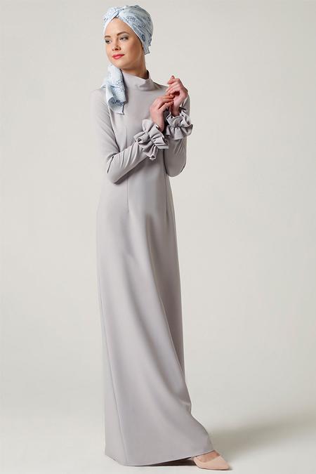 Milda Store Taş Fırfırlı Elbise
