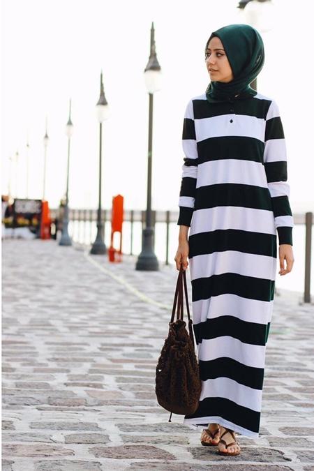 Missemramiss Çizgili Lacoste Elbise
