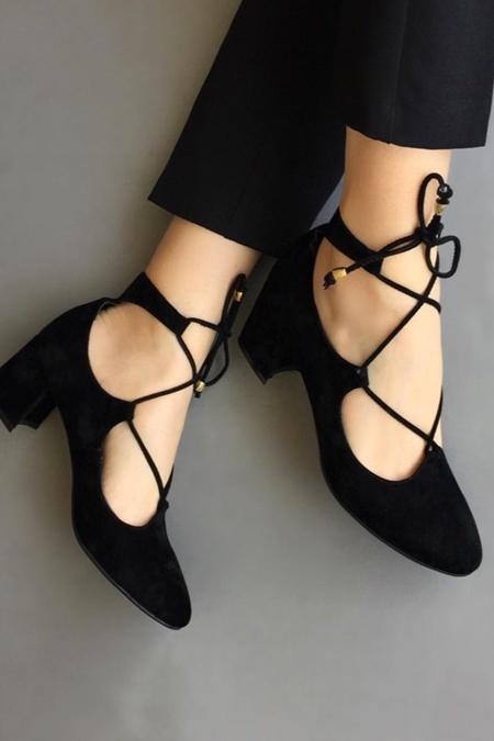 Mostra Shoes Siyah Babet
