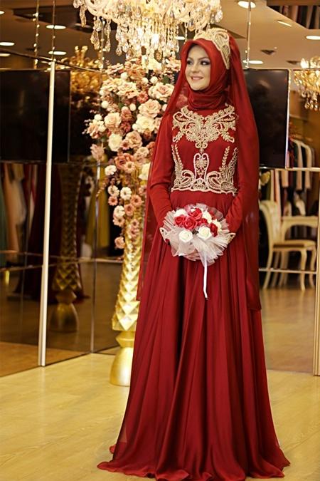 Pınar Şems Bordo Sahra Abiye