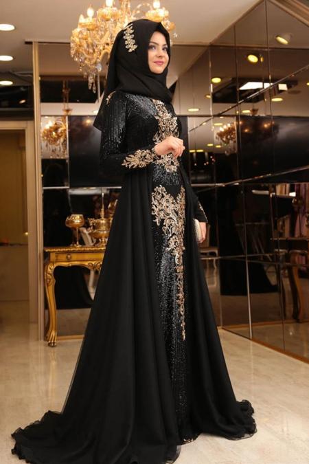 Pınar Şems Siyah Güneş Abiye