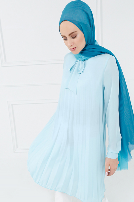 Refka Bebe Mavisi Piliseli Tunik