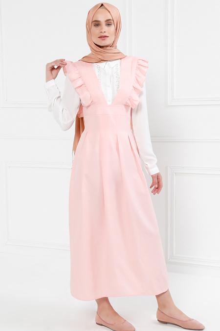 Refka Pudra Salopet Elbise