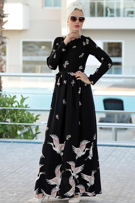 Selma Sarı Design Ekru Burcu Elbise