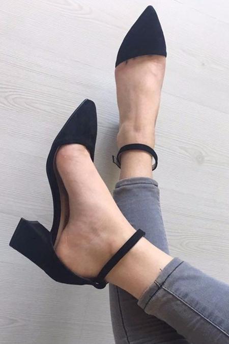 FAMBELLA 5 Cm Topuk Asimetrik Ayakkabı