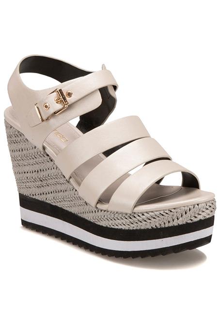 Flo Butigo Bej Kadın Basic Sandalet