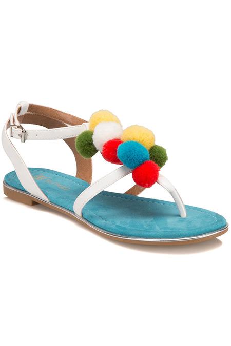 Flo Butigo Beyaz Kadın Sandalet