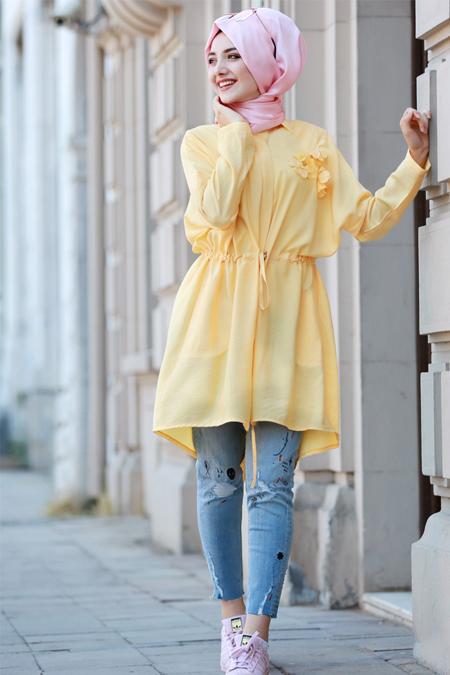 Gamze Özkul Sarı Lina Tunik