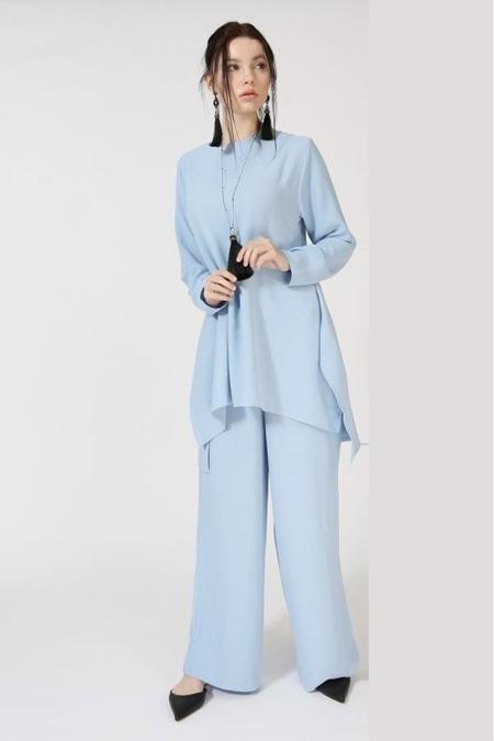 Kadriye Basturk Bebe Mavisi Mira Pantolon Tunik Takım