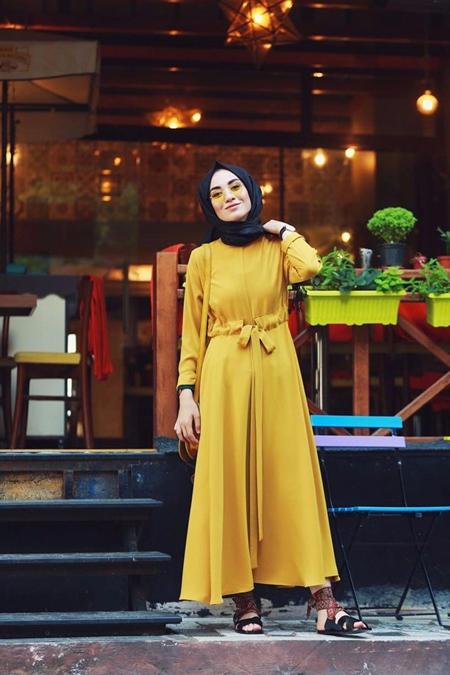 Kadriye Basturk Duble Klos Yazlık Elbise