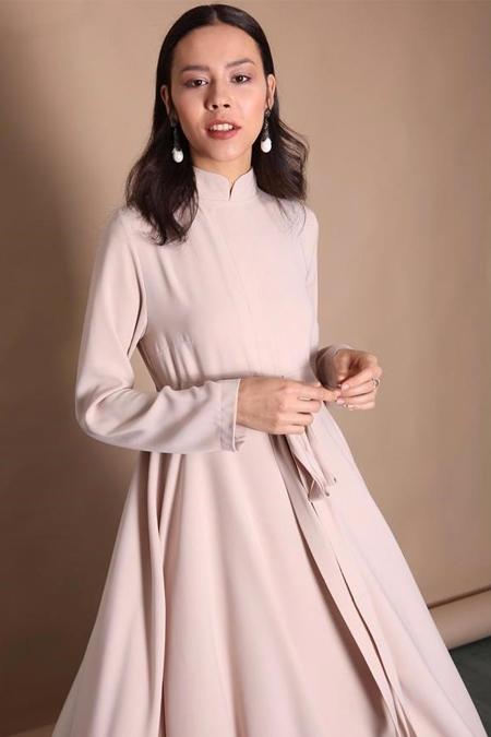 Kadriye Basturk Taş Duble Kloş Yazlık Elbise