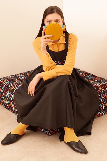 Kuaybe Gider Siyah Dignita Jile Elbise