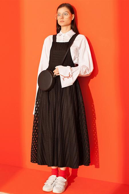 Kuaybe Gider Siyah Nero Jile Elbise