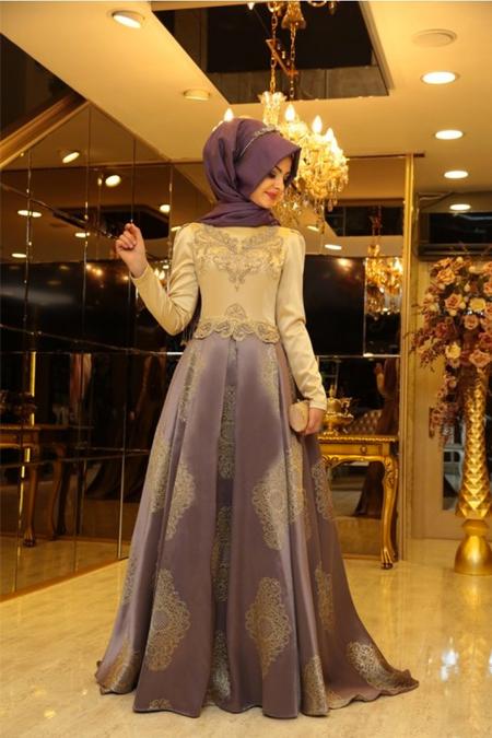 Pınar Şems Mor Harem Abiye
