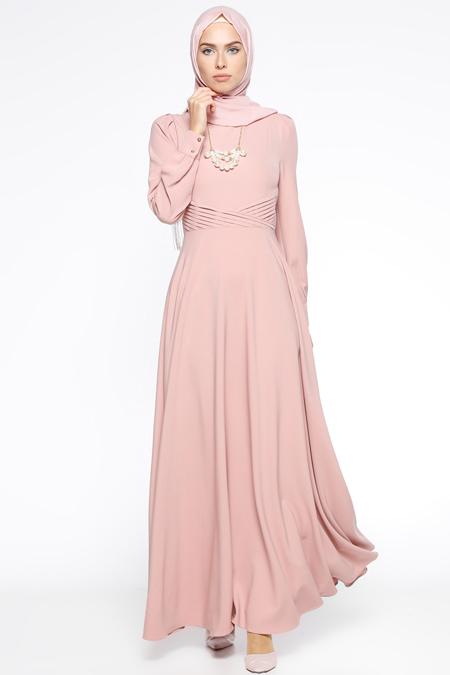 Puane Pudra Kolyeli Elbise