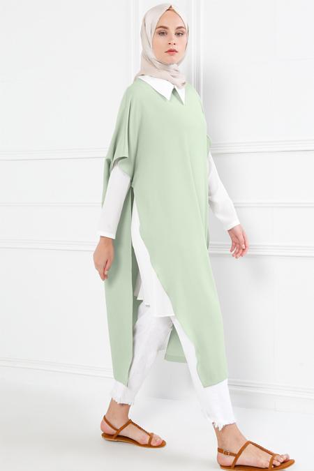 Refka Su Yeşili İkili Tunik Takım