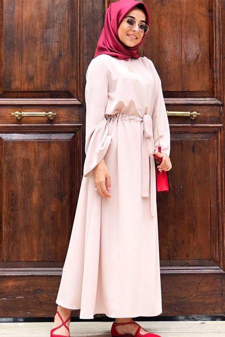 VOİLAADESİGN Tas Rengi Elbise