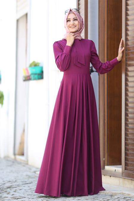 An Nahar Fuşya Nihan Elbise