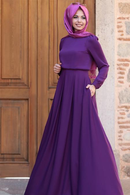 An Nahar Mor Gülce Elbise