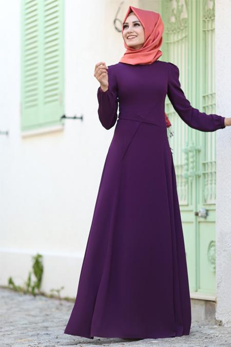 An Nahar Mor Yıldız Elbise