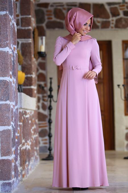 An Nahar Pudra Fiyonk Elbise