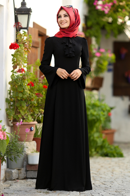 An Nahar Siyah Ezgi Elbise