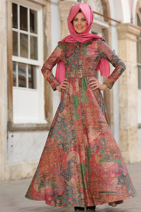 An Nahar Yeşil Ferzan Elbise