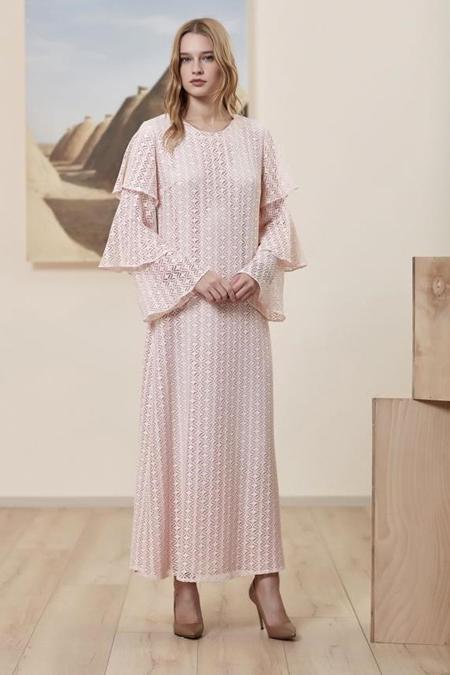 Asiyan Kolu Volanlı Elbise