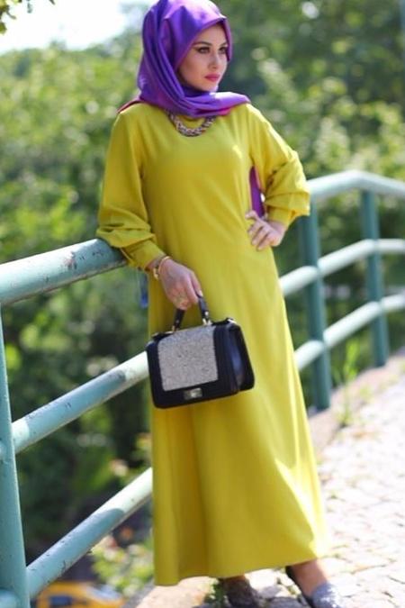 EMİLYA TASARIM Yeşil Koldetay Elbise