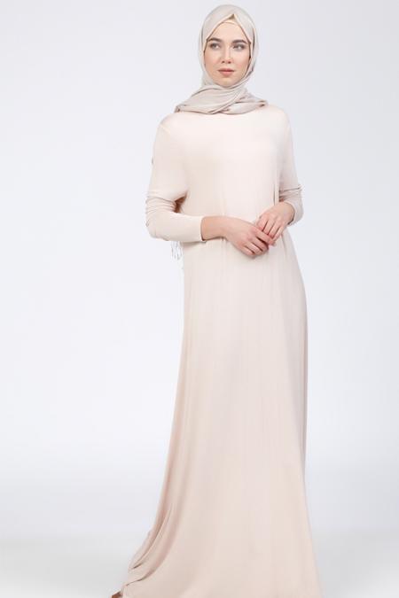 Everyday Basic Taş Doğal Kumaşlı Salaş Elbise