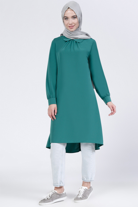 Everyday Basic Zümrüt Bebe Yaka Tunik