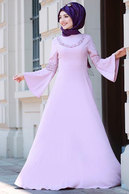 Gamze Özkul Pudra Vera Fırfırlı Elbise