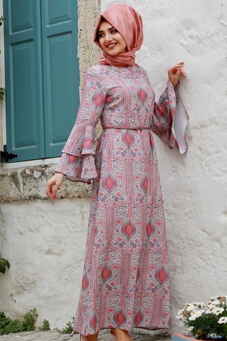 Gamze Özkul Mercan Gülfem Elbise