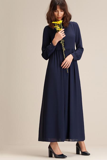 Kuaybe Gider Lacivert Passione Elbise