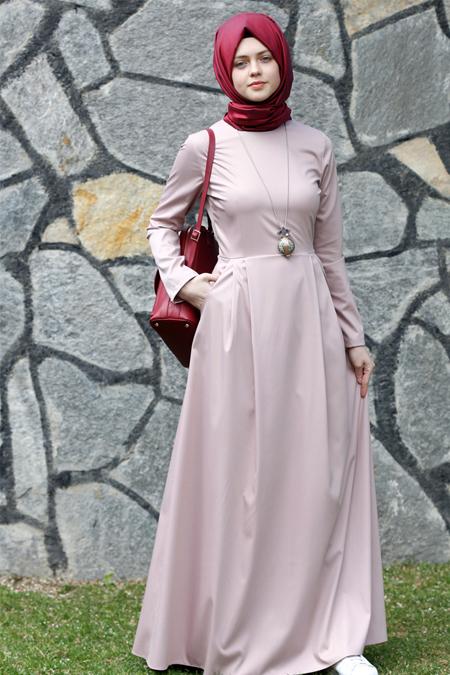 Kübra Biriktir Pudra Gözde Elbise