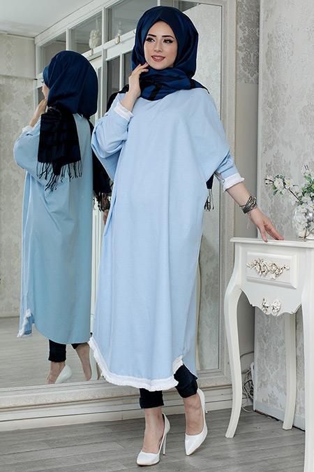Lefzen Mavi Marin Tunik