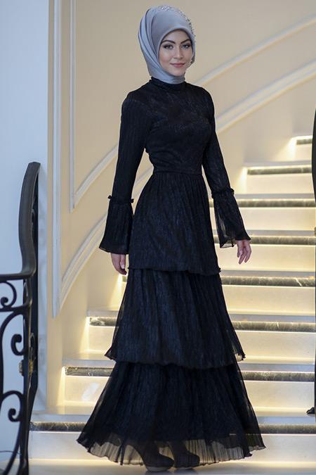 Minel Aşk Siyah Vita Elbise