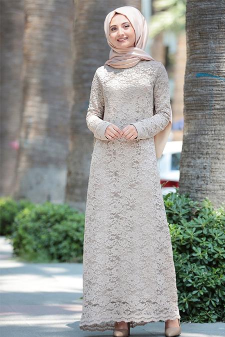 Puqqa Vizon Dantelli Elbise