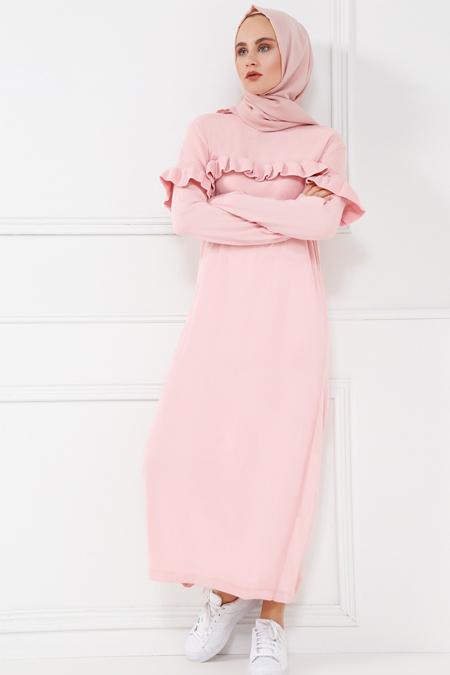 Refka Pudra Triko Elbise