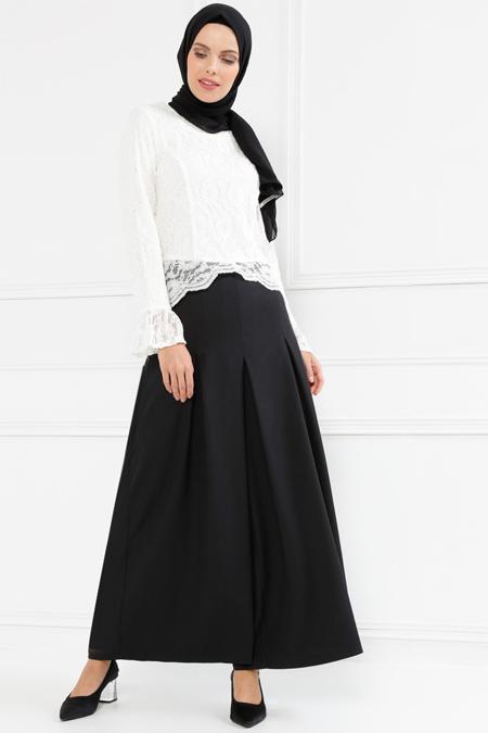 Refka Siyah Pantolon Etek